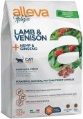 Alleva Holistic Cat - сухой беззерновой корм для кошек ягненок, оленина, конопля и женьшень