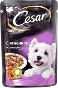 Cesar - Паучи для собак с ягненком и овощами (100 г)