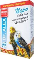 "Dr. Alex - корм для всех попугаев ""Перо"" (500 г)"