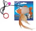 Уют - игрушка для кошек дразнилка, Рыбка на пружинке (9 см)