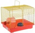 Зоомарк - Клетка для джунгариков малая,  с колесом и миской (511)