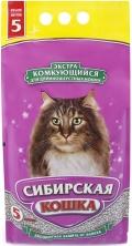 """Сибирская кошка - наполнитель комкующийся для длинношерстных кошек """"Экстра"""" (5 л)"""