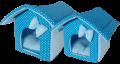 """Xody - Домик """"Будка"""" №1 (30 x 30 x 32 см) синий"""