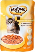 Мнямс - пауч для кошек с курицей в соусе (100 г)