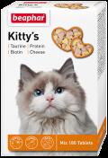 Beaphar Kitty`s Mix - Беафар витаминизированное лакомство c протеином, биотином, таурином и сыром для взрослых кошек