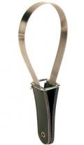 Trixie - Скребница с кожаной ручкой (25,5 х 8,5 см)