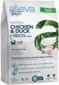 Alleva Holistic Hairball - сухой беззерновой корм для кошек Вывод шерсти, курица, утка, волокна сахарного тростника и алое вера
