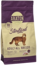 Araton Sterilised - сухой корм для стерилизованных кошек