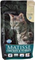 Matisse Chicken & Turkey - сухой корм для взрослых кошек с курицей и индейкой