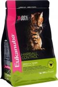 Eukanuba Cat Hairball - сухой корм для кошек, склонных к образованию волосяных комков в желудке, с домашней птицей