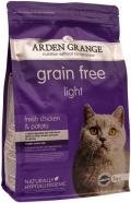 Arden Grange Adult Cat Light GF - сухой беззерновой корм для кошек, склонных к полноте