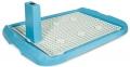 №1 - Туалет для собак с решеткой и столбиком (60 x 40 см) голубой