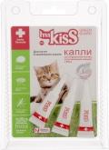 Ms. Kiss - Капли, отпугивающие блох и клещей для котят и маленьких кошек весом до 2 кг (3 пипетки по 1 мл)