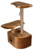 Дарэлл - Домик-когтеточка 3-х уровневый угловой, джут (36 x 49 x 96 см) коричневый