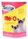 Me-O Adult - паучи для кошек с сардиной и красным окунем в желе (80 г)