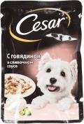 Cesar - Паучи для собак с говядиной в сливочном соусе (100 г)