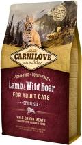 CarniLove Cat Lamb & Wild Boar Sterilised - сухой беззерновой корм для стерилизованных кошек с мясом ягненка и дикого кабана