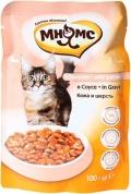 """Мнямс - пауч для кошек с лососем """"Кожа и шерсть"""" в соусе (100 г)"""