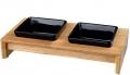 Trixie - миски керамические на деревянной подставке (2 по 200 мл)