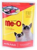 Me-O Adult - паучи для кошек с тунцом и белой рыбой в желе (80 г)
