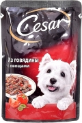 Cesar - Паучи для собак из говядины с овощами (85 г)