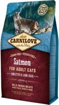 CarniLove Cat Salmon Sensitive - сухой беззерновой корм для взрослых кошек c чувствительным пищеварением с лососем