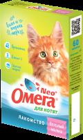 Омега Neo + - мультивитаминное лакомство для котят Веселый малыш (60 таб.)