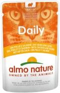Almo Nature Daily - паучи для кошек с курицей и лососем (70 г)