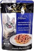 Edel Cat - Нежные кусочки в соусе Лосось и Форель (пауч, 100 г)