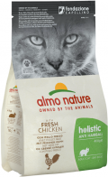 Almo Nature Holistic Anti Hairball - сухой корм для кошек контроль вывода шерсти с курицей и рисом
