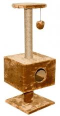 Дарэлл - Домик-когтеточка квадратный на подставке (37 x 35 x 95 см)