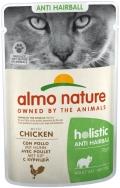 Almo Nature Holistic Anti Hairball - паучи для вывода шерсти у кошек с курицей (70 г)
