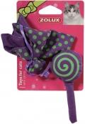 Zolux - Игрушки мягкие бабочка и конфета с мятой для кошек, фиолетовые (2 шт.)