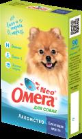 Омега Neo + - мультивитаминное лакомство для собак Блестящая шерсть (90 таб.)