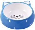 """КерамикАрт - керамическая миска для кошек """"Мордочка кошки"""" (250 мл) голубая"""