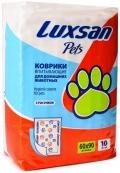 Luxsan pets Premium - коврики впитывающие с рисунком (60 x 90 см) 10 шт.