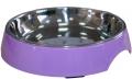 Super Design - миска на меламиновой подставке для кошек широкая (250 мл) сиреневая