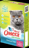 Омега Neo + - мультивитаминное лакомство для кастрированных кошек (90 таб.)