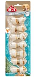 8 in 1 Dental Delights XS - косточки с курицей и минералами для мелких собак (7 шт. х 7,5 см)