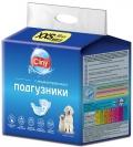 Cliny - подгузники для домашних животных 1-2,5 кг XXS (12 шт.)
