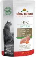Almo Nature HFC Natural - паучи для кошек с курицей и креветками (55 г)
