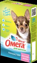 Омега Neo + - мультивитаминное лакомство для щенков Веселый малыш (60 таб.)