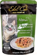Edel Cat - Нежные кусочки в соусе Утка и Индейка (пауч, 100 г)