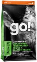 Go! Sensitivity Shine - сухой беззерновой корм для котят и кошек с чувствительным пищеварением с форелью и лососем