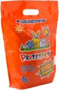 PrettyPet - наполнитель древесный с морковными чипсами для грызунов (6 л)