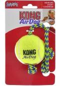 """Kong Air - игрушка для собак """"Теннисный мяч"""" средний (6 см) с канатом"""