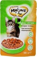 """Мнямс - пауч для кошек с кроликом """"Чувствительное пищеварение"""" в соусе (100 г)"""