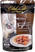 Edel Cat - Нежные кусочки в желе Гусь и Печень (пауч, 100 г)