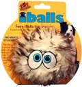 """Silly Squeakers iBall Medium Brown - Игрушка-пищалка для собак """"Пушистый мяч с глазами"""" средний, коричневый (10 см)"""