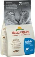 Almo Nature Holistic Sterilised - сухой корм для кастрированных кошек с лососем и рисом